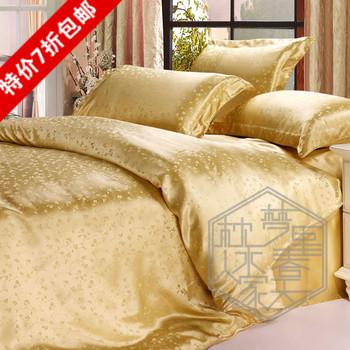 Pillow water of the families silk bedding piece bedding set mulberry silk medium-large