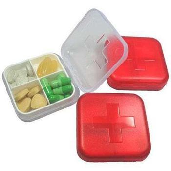 100pcs/lot New arrival cross four-frame kit drug storage box portable waterproof mini portable kit