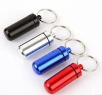 First aid pill bottles belt keychain portable small kit sealed cartridge waterproof aluminum alloy tank life-saving 10g