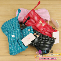 Hot-selling stationery 38 school supplies prize ql polka dot bow pencil case