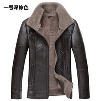 Мужские изделия из кожи и замши outerwear fall short leather jacket outerwear suede natural waterproof made in china clothers M L XL 2XL 3XL