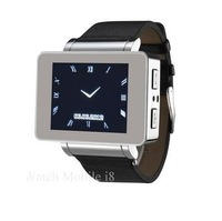 1.8 inch Watch mobile phone Quad-band GSM with bluetooth/ Compass/ 2.0 mega pixels camera /3D sensor/ FM / MP3/ GPRS, i8