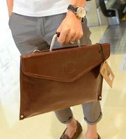 2013 file bag man bag vintage briefcase male handbag one shoulder cross-body bag envelope