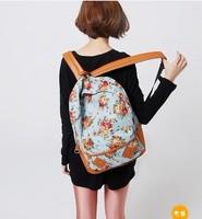 2014 hot sale floral bolsas femininas mochila feminina women cute flower school book campus bag backpack new 6 colors cpam free