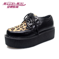 Honey 2013 vivi fashion genuine leather leopard print round toe platform shoes platform shoes