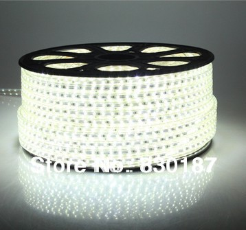 5050 LED 220V LED strip lights 72pcs/m 50m/lot bright cove lights with super bright LED flexible strip white(China (Mainland))