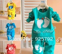 Free shipping 2013 HOT SELLING baby pajama baby suit baby set baby clothing 0~2years ww052