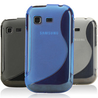 Multi-Color Gel Silicone S Line Case For S5300, TPU Cover For Samsung Galaxy Pocket S5300 5300,Free Shipping