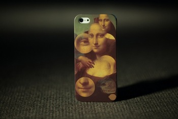Art Mona Lisa Smile Case For Iphone 5 hot selling new 2013 good quality Cover women Accessories