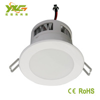 Free shipping 2pcs/lot wholesale 85-265v, high lumens 600-650lm, 7*1w high power led downlight ,3years warranty