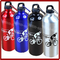 Free Shipping 750ml Outdoor Sports Water Bottle Cycling Camping Bicycle Aluminum Alloy Bottle 4Colors