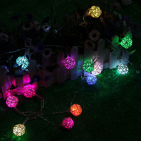 Led string of lights battery light wedding supplies decoration 2.5 meters ball christmas lights