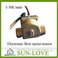 "SL-HZ21WC Electrical Flow Sensor  Sensor Water 1-30L/min G1/2"" DN15mm Hall Flow Sensor"