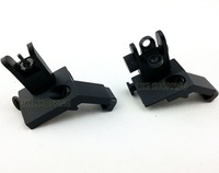 New type 45 Degree Offset Micro Front and Rear Folding Sight Set black