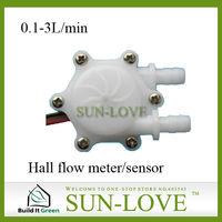 SL-HW41C Electrical Flow Sensor  Sensor Water 0.1-3L/min Hose Barb Connection for Hall Flow Sensor