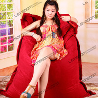 FREE SHIPPING 140*180CM bean bag chairs cover red bean bag luxury suede red bean bag chair bean bag furniture store