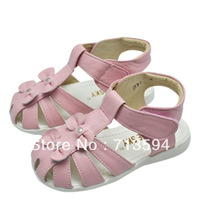 Bluesky leather sandals female child sandals genuine leather female child sandals children shoes female 7109