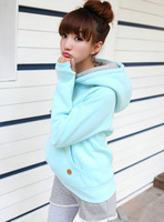 Autumn new arrival 2012 double layer hooded set long-sleeve pullover fleece sweatshirt thickening female 1959  Free Shipping