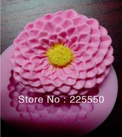 1PCS Lotus shape Chocolate Candy Jello 3D silicone Mold Cartoon Figre/cake tools Soap Mold Sugar craft Cake Decoration