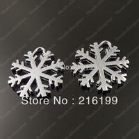 Whosesale New Arrived Christmas Charm Cute Silver Tone Snowflake Charm Pendant 20PCS 36199