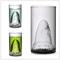 Free shipping shark glass big shark wine glass Double glazing cup