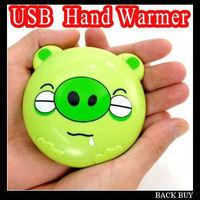 Free Shipping 2pcs 2013 New Fashion Cartoon Animal USB Battery Double Use Winter Mini Hand Warmer Heater,,Creative Gift,HQS381