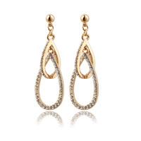 Free shipping ! High Quality 2013 New Fashion Alloy Rhinestones Stud Earrings E00702