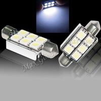 2x 3423 3425 12V 2.5W 6-SMD 5050 LED Festoon Dome Light Parking/Stop Tail Lamp