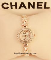 One line austrian diamond bracelet watch brief small dial elegant watch oval female watch