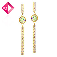 Free Shipping Neoglory accessories time earrings rhinestone female ol