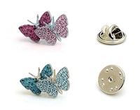Wholesale 5pcs/lot Crystal Butterfly Brooches Brand Rhinestone Shirt Lapel Pin Fashion Jewelry For Women Man Wedding2013 TBH0031
