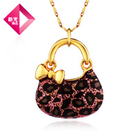 Free Shipping Neoglory accessories fashion necklace female powder gold leopard print paint
