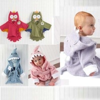 Free Shipping Hot Child infant bathrobe bath towel sleepwear robe style bathrobe cartoon