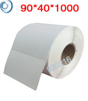 90*40mm*1000pcs Thermal transfer blank white label stickers adhesive price label paper clear stickers Free shipping