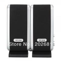 Black Mini USB Power Portable Multimedia Speaker HY-218 For Computer Laptop 100pcs Free Shipping