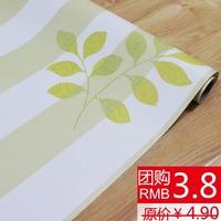 50 meters pvc wallpaper thickening Wallpaper rustic wardrobe green