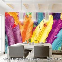 Mural wallpaper brief tv sofa ofhead beijingqiang wallpaper feather