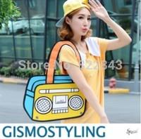 Top cartoons bag 3d three-dimensional bag women's handbag shoulder bag drop shipping