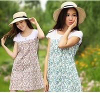 Maternity cotton fashion new summer Korean women Pregnant women dress skirt suit
