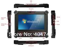 "10"" rating IP65 GIS  ruggedized Tablet Computer,Mobile Data Terminal,Windows 7 Rugged Tablet,Intel Atom Lincroft,32GB SSD,2GB"