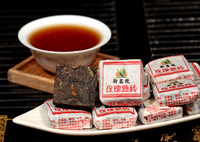 New product mini  rose puer brick 50 pcs ,rose ripe puerh,come from Kunming-puer,Rose beauty to raise  colour free shipping