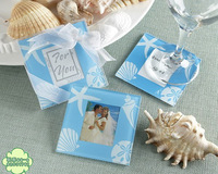 Wedding supplies wedding small gift ocean blue romantic exquisite wedding card coasters 2