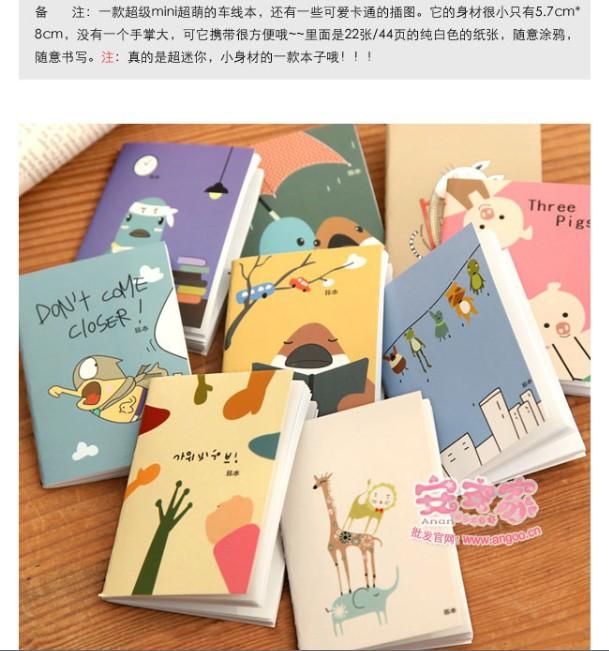 Free Shipping Cute Note Book Note Pad Stationaery handbook 20 Pieces/LOT(China (Mainland))