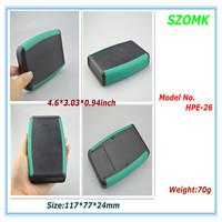 4.6*3.03*0.94inch 117*77*24mm small electronics enclosure , 10 piecess a lot 9v battery holder plastic enclosure
