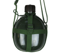 Army Green kettle aluminum kettle old fashioned kettle water bottle cross canvas suspenders thickening 1.2l