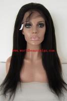 (Gift + Free shipping)stock Italian yaki 20'' 1B lace front wig