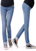 2013 new spring autumn adjustable maternity   jeans pregant  pants  abdominal trousers belly pants