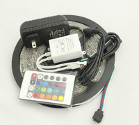 DC 12V 2A Power Supply 5M/Lot SMD 3528 300 Leds 60LEDs/M Waterproof IP65 Flexible LED Strip Light CE ROHS