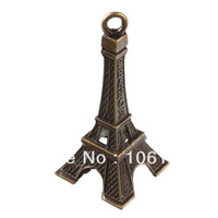 Free Shipping Antique Bronze Plated Eiffel Tower Charms Zinc Alloy Pendants 45pcs/Lot Wholesale