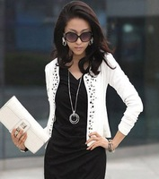 Lady's Long Sleeve Shrug Suits small Jacket Fashion Cool Women's Rivet Coat Jacket blazer Slim jackets for women plus size XXL